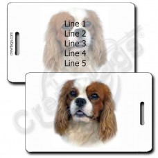 PERSONALIZED CAVALIER KING CHARLES SPANIEL LUGGAGE TAGS
