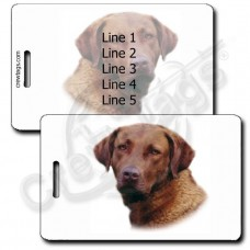 PERSONALIZED CHESAPEAKE BAY RETRIEVER LUGGAGE TAGS