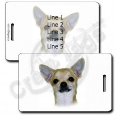 PERSONALIZED CHIHUAHUA LUGGAGE TAGS