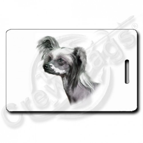 CHINESE CRESTED DOG LUGGAGE TAGS