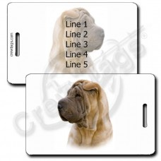 PERONALIZED CHINESE SHAR PEI LUGGAGE TAGS