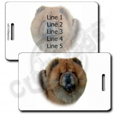PERSONALIZED CHOW CHOW LUGGAGE TAGS