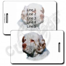 PERSONALIZED CLUMBER SPANIEL LUGGAGE TAGS