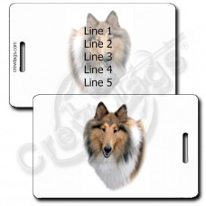 PERSONALIZED COLLIE LUGGAGE TAGS