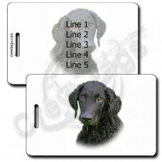 PERSONALIZED CURLY COATED RETRIEVER LUGGAGE TAGS