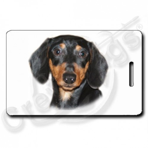 DACHSHUND - BLACK AND TAN LUGGAGE TAGS