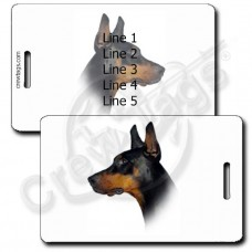 PERSONALIZED DOBERMAN PINSCHER LUGGAGE TAGS