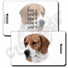 PERSONALZIED FOXHOUND LUGGAGE TAGS - ENGLISH