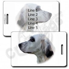 PERSONALIZED ENGLISH SETTER LUGGAGE TAGS