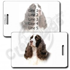 PERSONALIZED ENGLISH SPRINGER SPANIEL LUGGAGE TAGS