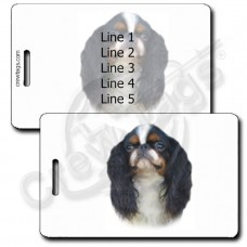 PERSONALIZED ENGLISH TOY SPANIEL LUGGAGE TAGS