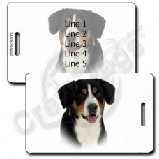 PERSONALIZED ENTLEBUCHER MOUNTAIN DOG LUGGAGE TAGS