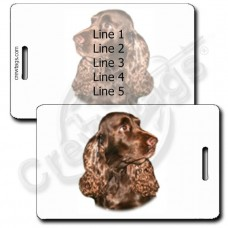 PERSONALIZED FIELD SPANIEL LUGGAGE TAGS