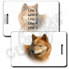 PERSONALIZED FINNISH SPITZ LUGGAGE TAGS