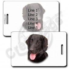 PERSONALIZED FLAT COATED RETRIEVER LUGGAGE TAGS
