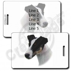 PERSONALIZED FOX TERRIER LUGGAGE TAGS - SMOOTH