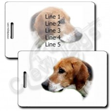 PERSONALIZED FOXHOUND LUGGAGE TAGS - AMERICAN