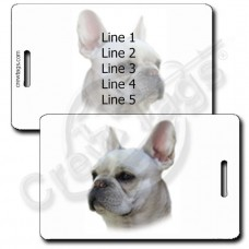 PERSONALIZED FRENCH BULLDOG LUGGAGE TAGS