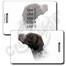 GERMAN SHORTHAIRED POINTER LUGGAGE TAGS