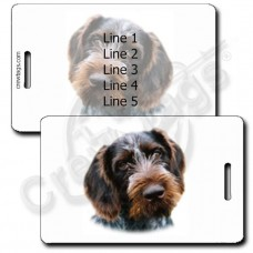 GERMAN WIREHAIRED POINTER LUGGAGE TAGS