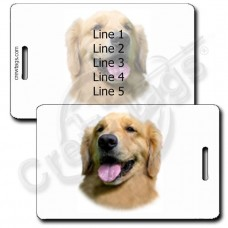 GOLDEN RETRIEVER LUGGAGE TAGS