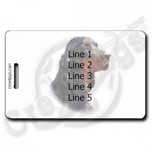 GORDON SETTER PERSONALIZED LUGGAGE TAGS