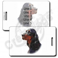 GORDON SETTER LUGGAGE TAGS