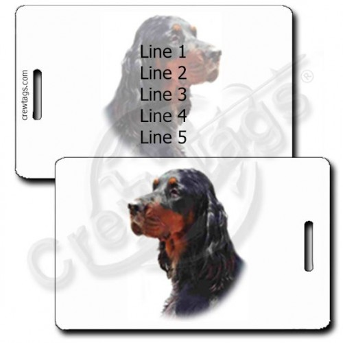 PERSONALIZED GORDON SETTER LUGGAGE TAGS