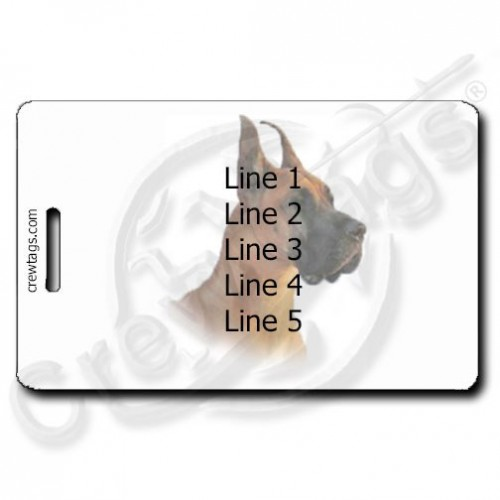 GREAT DANE PERSONALIZED LUGGAGE TAGS