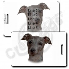 PERSONALIZED GREYHOUND LUGGAGE TAGS