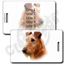 PERSONALIZED IRISH TERRIER LUGGAGE TAGS
