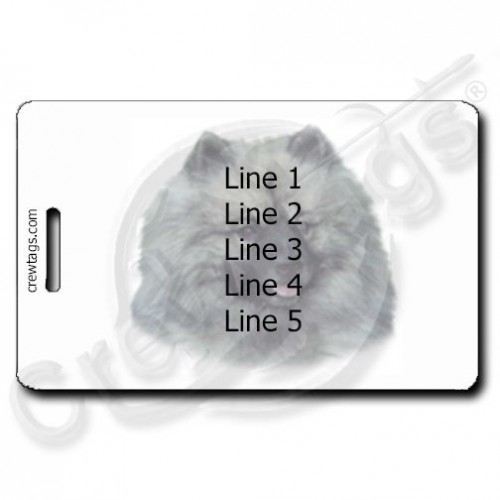 KEESHOND PERSONALIZED LUGGAGE TAGS