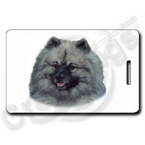 KEESHOND LUGGAGE TAGS