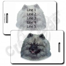 PERSONALIZED KEESHOND LUGGAGE TAGS