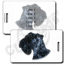 KERRY BLUE TERRIER LUGGAGE TAGS