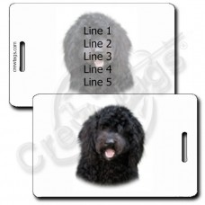 PERSONALIZED LABRADOODLE LUGGAGE TAGS - BLACK