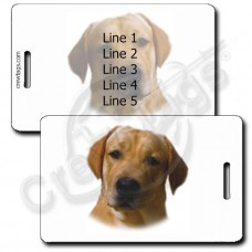 LABRADOR RETRIEVER LUGGAGE TAGS - YELLOW