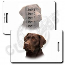 LABRADOR RETRIEVER LUGGAGE TAGS - CHOCOLATE