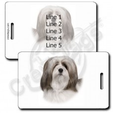 PERSONALIZED LHASA APSO LUGGAGE TAGS