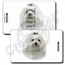PERSONALIZED MALTESE LUGGAGE TAGS