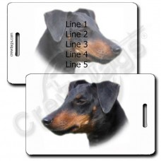 PERSONALIZED MANCHESTER TERRIER LUGGAGE TAGS