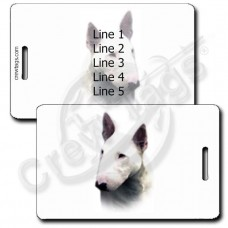 PERSONALIZED MINIATURE BULL TERRIER LUGGAGE TAGS