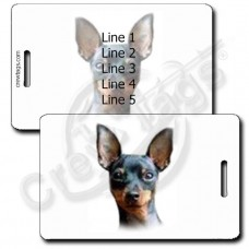 MINIATURE PINSCHER LUGGAGE TAGS