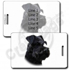 MINIATURE SCHNAUZER LUGGAGE TAGS - BLACK