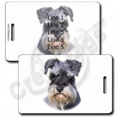 MINIATURE SCHNAUZER LUGGAGE TAGS