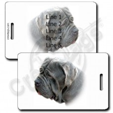 NEAPOLITAN MASTIFF LUGGAGE TAGS