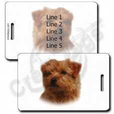 NORFOLK TERRIER LUGGAGE TAGS