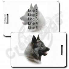 NORWEGIAN ELK HOUND LUGGAGE TAGS