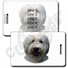 PERSONALIZED OLD ENGLISH SHEEPDOG LUGGAGE TAGS