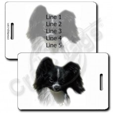 PAPILLON LUGGAGE TAGS - BLACK